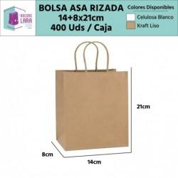 Bolsas Asa Rizada 14+8x21cm...