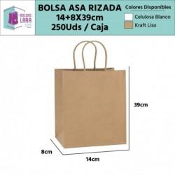 Bolsas Asa Rizada 14+8x39cm...