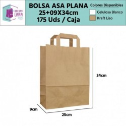 Bolsas Asa Plana 25+9x34cm...