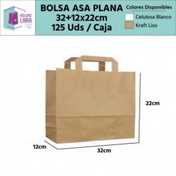 Bolsas Asa Plana 32+12x22cm...