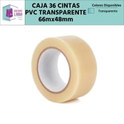 Cintas Adhesivas de PVC de calidad superior, color transparente 66m x 48mm